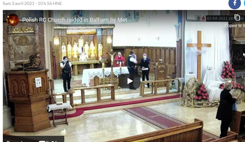 Scandale : la cérémonie du vendredi saint arrêtée à Londres (vidéo)